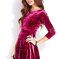 Must-Have Velveteen Skater Dress