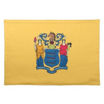New Jersey Flag American MoJo Placemat