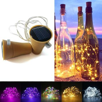 1M Solar Power Cork Shaped 10 LED Night Fairy String Light Kork Solarbetrieben Licht Wine Bottle Lamp Party Celebration Gift Val