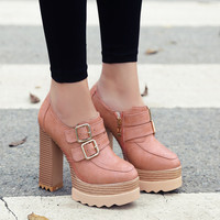 Thick Heeled Platform Shoes