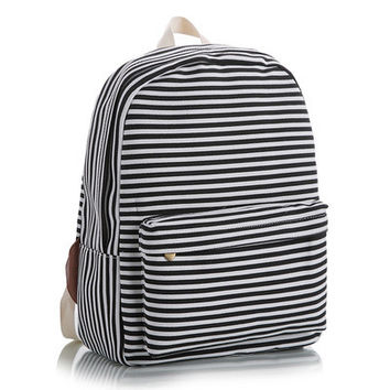 Korean Lovely Cute Stripes Animal Canvas Striped Floral Backpack = 4887628804