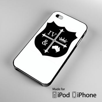 For King And Country Logo A0602 iPhone 4 4S 5 5S 5C 6, iPod Touch 4 5 Cases