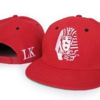 Last Kings Snapback Hat Cap Red/White