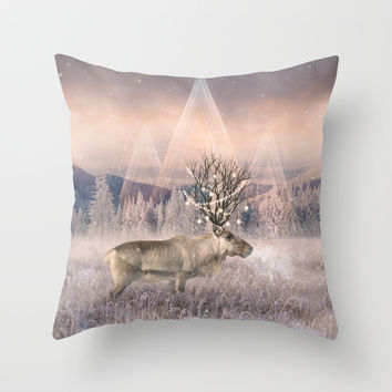 Stillness of Winter Throw Pillow by Soaring Anchor Designs   Society6