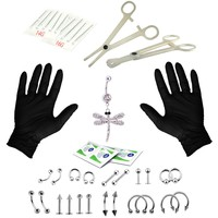 BodyJ4You Body Piercing Kit Bow Belly Rings Tongue Tragus Ear Eyebrow Nipple Lip Nose Jewelry 36 Pieces