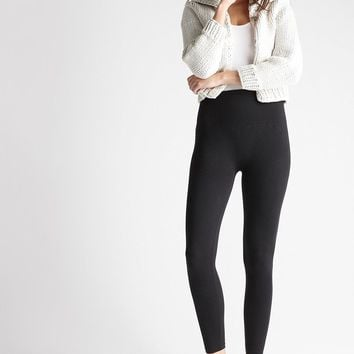 Yummie Terry Fleece Lined Black Leggings