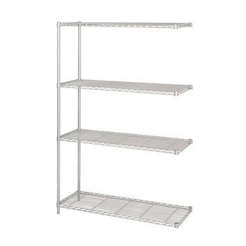 Safco Industrial Extra Strength Steel Shelving Add-On Storage Unit 48 x 18 Gray
