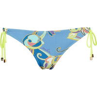 River Island Womens Blue print pacha bikini briefs