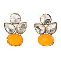 orange blossom - the crystal earrings