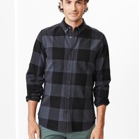 Buffalo Plaid Oxford Shirt Slim Fit