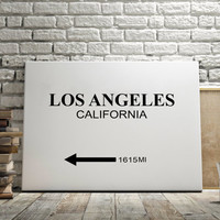 "CUSTOMIZE PRINT Prada Marfa"" Los Angeles"" City Print Typography Art Print Gift for Him Fashion Art Art Prada Marfa Sign Like in Gossip Girl"