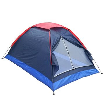 Summer Tent 2 Persons Tourist Single Layer Windproof Waterproof PU1000mm Camping Tent with Bag Tienda De Acampar Tente Carpas