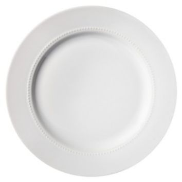 Threshold™ Round Beaded Dinner Plate Set of 4 - White