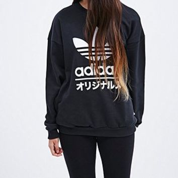 Adidas Typo Sweatshirt in Black - Urban Outfitters
