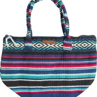 BILLABONG EVEN WAVES WOVEN BEACH TOTE