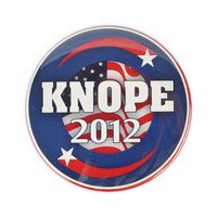 "Leslie Knope 'KNOPE 2012"" large badge"