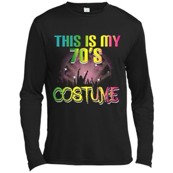 This Is My 70s Costume Halloween 1970s Gift Tees Long Sleeve Moisture Absorbing Shirt
