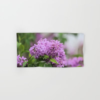 Lilac Bouquets Hand & Bath Towel by Theresa Campbell D'August Art