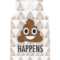 Tank Top famous poop emoji text Happens 3D Print T Shirt