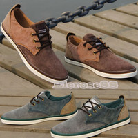 2013 Fashion Men's Round Toe Classic Lace-up Flat Shoes Canvas Casual ElR8 Hot