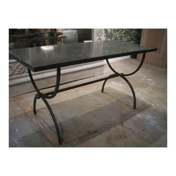 Iron & Marble End Table