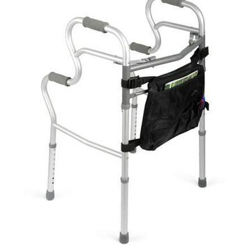 Complete Medical Walker 3-In-1 Folding 2-Button W/Bag (Adult Stand-Assist)