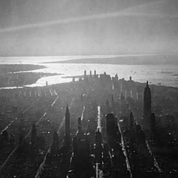 New York City Birds Eye Skyline Fine Art Print
