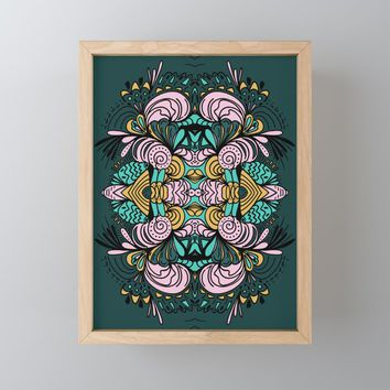 Ornamental Framed Mini Art Print by duckyb