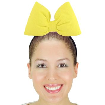 Big Daisy Duck Bow Headband - Yellow