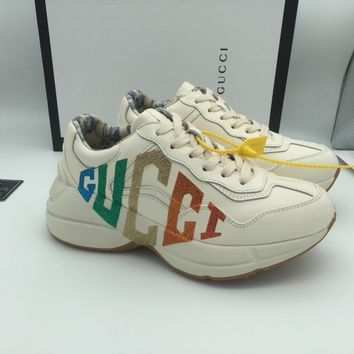 GUCCI GG  2020 NEW Latest  Women White Casual Shoes Sneaker Sport Running Shoes Slides Sandals Shoes Best Quality