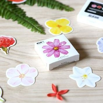 45 Pcs/box Cute Kawaii Flower Girl Papers Stickers Flakes Romantic Love For Diary Decoration Diy Scrapbooking Stationery Sticker