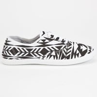 Twisted Womens Shoes Black/White  In Sizes