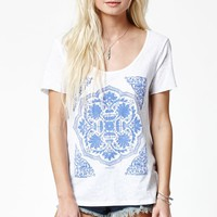 O'Neill Ornate Scoop Neck T-Shirt - Womens Tee - White