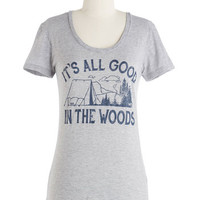 ModCloth Mid-length Short Sleeves Nothing But Nature Tee