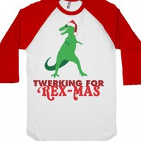 Rex-Mas-Unisex White/Red T-Shirt