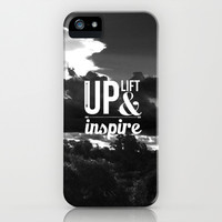 Up Lift & Inspire iPhone & iPod Case by Louise Machado