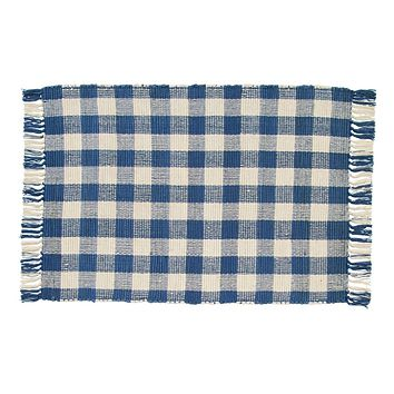 Picnic Blue Woven Rug