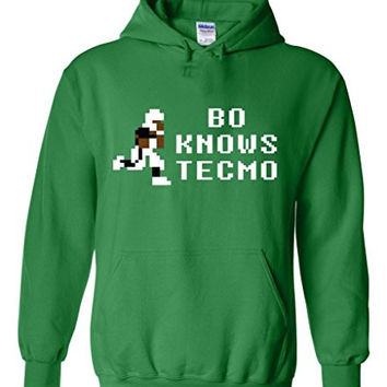 "Bo Jackson Oakland Raiders Tecmo Bowl ""TECMO BO KNOWS"" Hooded Sweatshirt ADULT 4XL"
