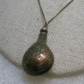 "Vintage Sterling Perfume Bottle Necklace 20"" Sterling Silver Chain/Pendant, 5.69 grams"