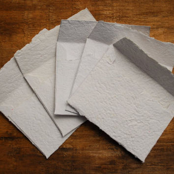 5 Handmade Recycled Paper Envelopes by TheVintageCountry on Etsy