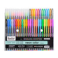 Newdoer 48 Packs Color Gel Ink Pens,The Best Gel Pens Set for Adult Colouring Books,Draw,and Write,with 1.0mm Tip Range
