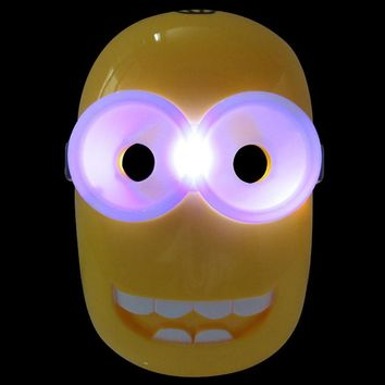 LED Glowing Despicable Me Minions Halloween Mask Children's Cartoon Superhero Toy Glow with Lamp  Mask Christmas Kids Gift