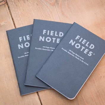 Pitch Black Field Notes Memo Books (Set of three)