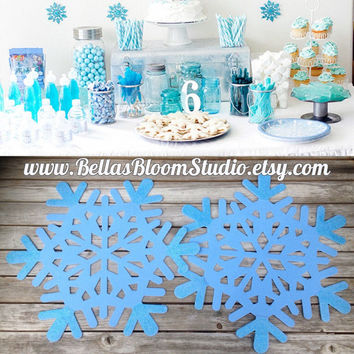 Frozen Decorations, Snowflake Decor ,Frozen Backdrop, Birthday Favors,Large snowflake decor Frozen Birthda Party, Etsy