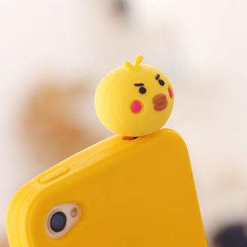 1pc Cute Animals Shaped Silicone Mobile Phone Dust Plug Mobile Phone Jack Plug Cellphone Decoration for Women