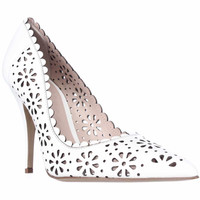 kate spade New York Lana Flower Cutout Pointed Toe Heels - White