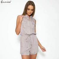 Gamiss Summer Jumpsuits Rompers Womens Clothing Jumpsuit Women Casual Halter Playsuit Bodycon Jumpsuit Romper Trousers
