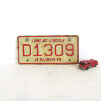Small Vintage License Plate