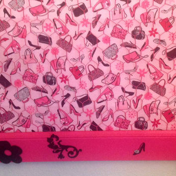 Extra large Ultimate frame and wire Daddy's little girl Diva bow, jewelry, and photo organizer holder bulletin board in hot pink and black