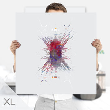 Ink Blot | Psychology Art | Extra Large Wall Art | Rorschach Art Print | Instant Download | Therapist Gift | Ink Print